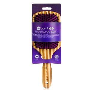 Tiri Pro Bamboo Boar Bristle Paddle Brush - purple